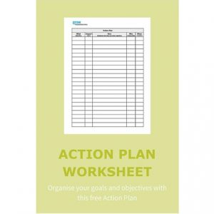 Organise your goals and objectives with this free Action Plan